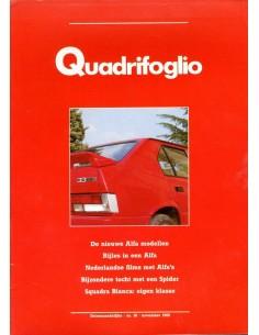 1986 ALFA ROMEO QUADRIFOGLIO MAGAZINE 16 NEDERLANDS