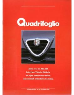 1987 ALFA ROMEO QUADRIFOGLIO MAGAZINE 20 NEDERLANDS