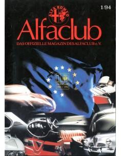 1994 ALFA ROMEO ALFCLUB DUITSLAND MAGAZINE DUITS