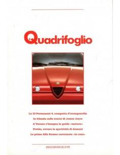 1991 ALFA ROMEO IL QUADRIFOGLIO MAGAZINE 32 ITALIAANS
