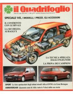 1994 ALFA ROMEO IL QUADRIFOGLIO MAGAZINE 48 ITALIAANS