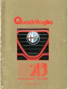 1985 ALFA ROMEO IL QUADRIFOGLIO MAGAZINE 2 ITALIAANS