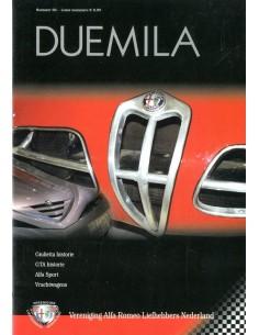 2002 ALFA ROMEO CLUB DUEMILA MAGAZINE 66 NEDERLANDS
