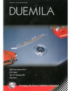 2002 ALFA ROMEO CLUB DUEMILA MAGAZINE 68 NEDERLANDS