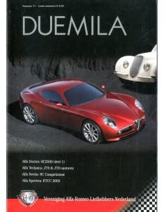 2003 ALFA ROMEO CLUB DUEMILA MAGAZINE 71 NEDERLANDS