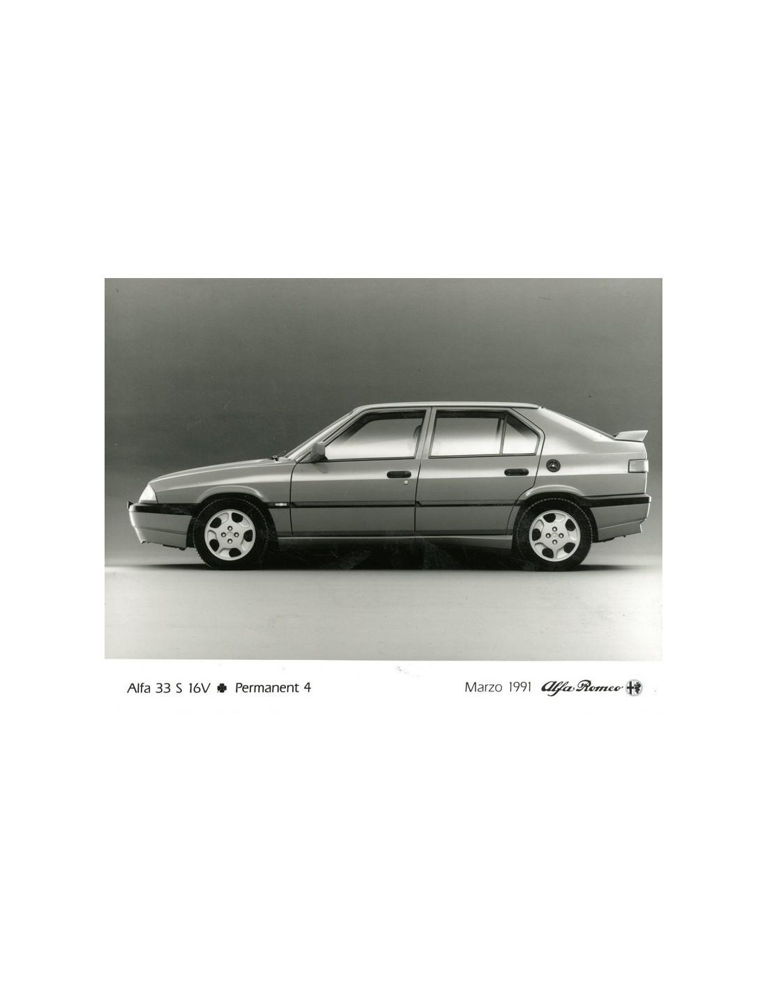 1991 Alfa Romeo 33 S 16v Qv Permanent 4 Persfoto