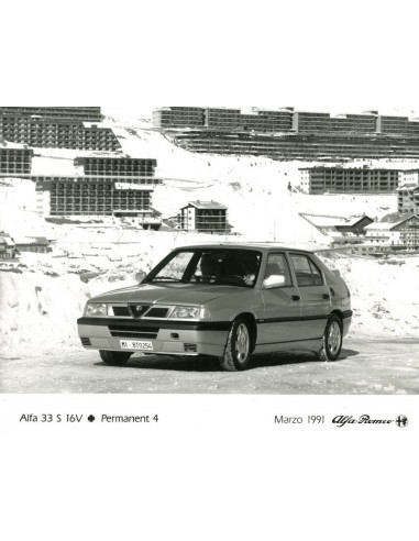 1991 alfa romeo 33 s 16v qv permanent 4 press photo