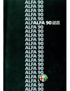 1985 ALFA ROMEO 90 2.0 6V INIEZIONE BROCHURE ITALIAANS