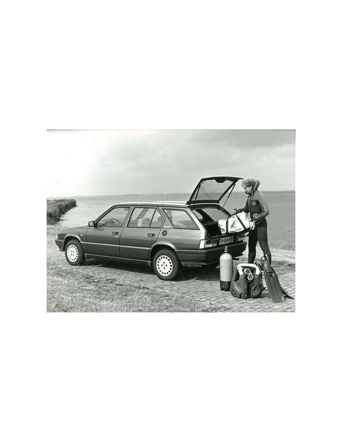 1989 ALFA ROMEO 33 SPORT WAGON PRESS PHOTO
