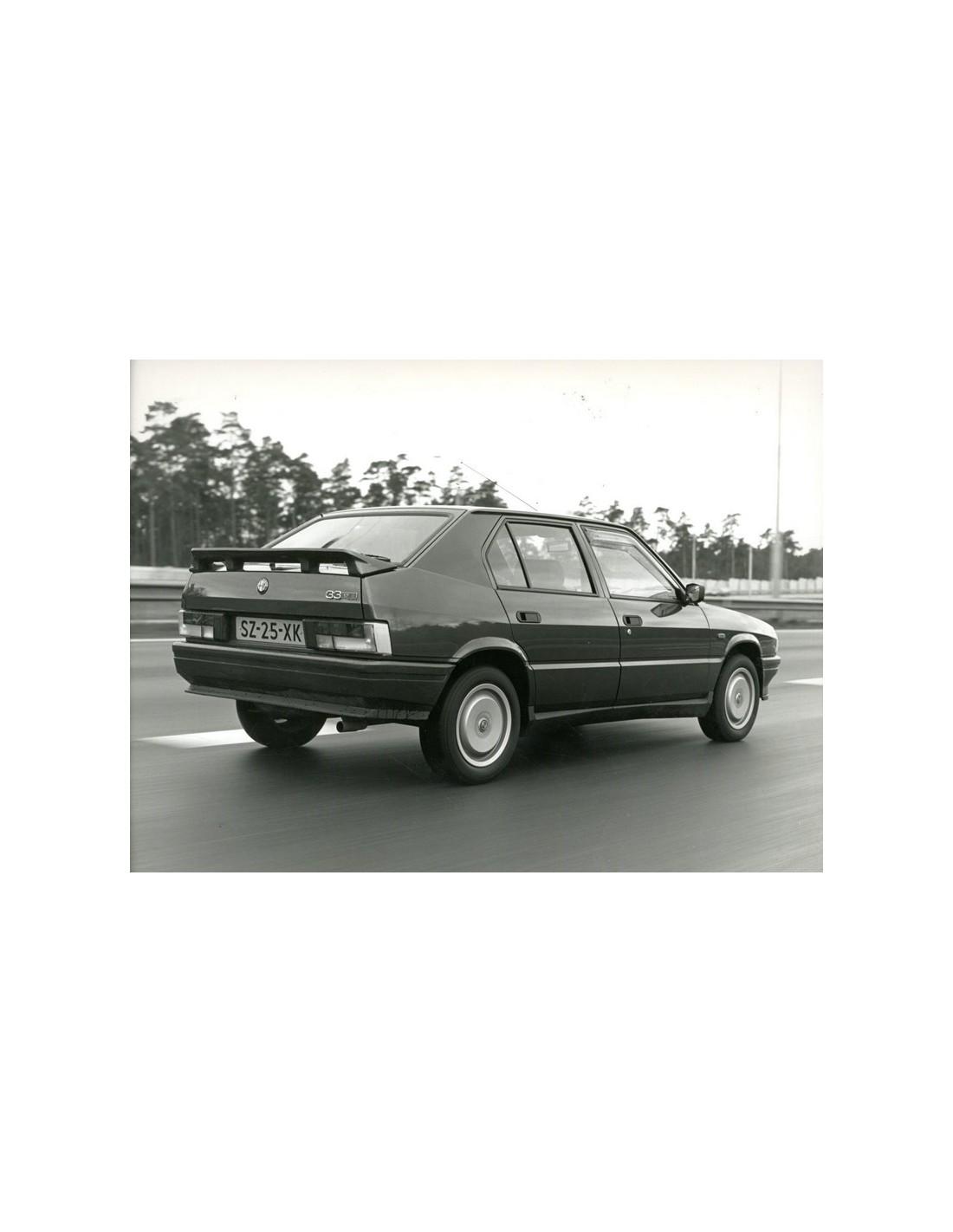 1989 ALFA ROMEO 33 1.7 QV PRESS PHOTO