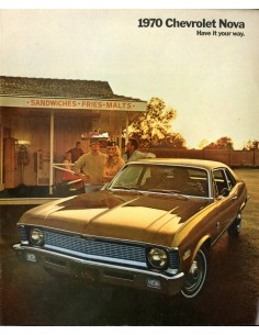 1970 CHEVROLET NOVA BROCHURE ENGELS USA