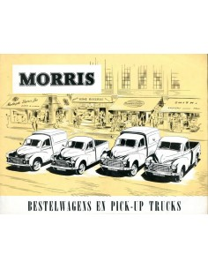1953 MORRIS BESTELWAGENS EN PICK-UP TRUCKS BROCHURE NEDERLANDS