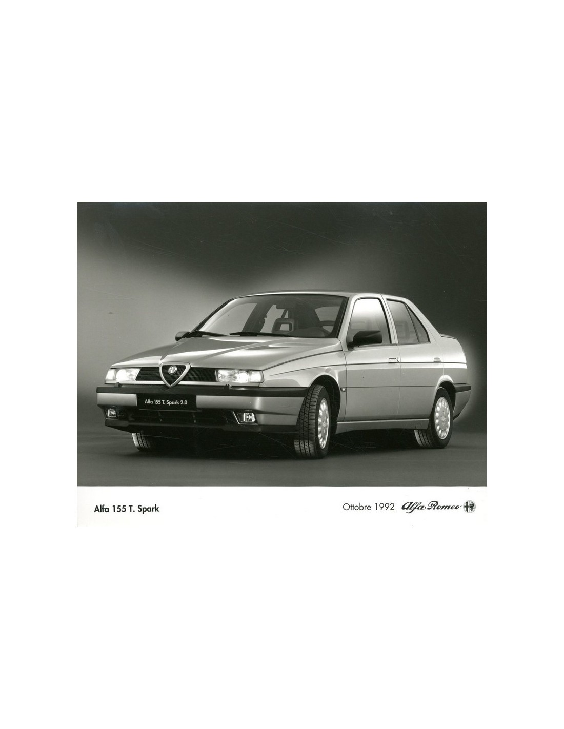 1992 ALFA ROMEO 155 T. SPARK PRESS PHOTO