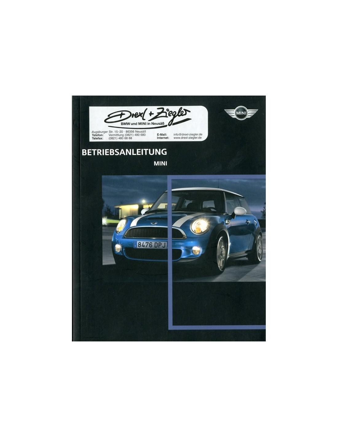 2008 mini owner s manual german rh autolit eu 2008 mini cooper service manual 2008 mini cooper owners manual pdf
