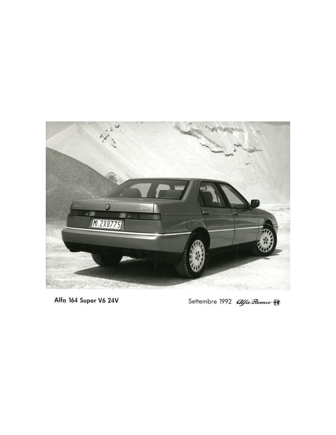 1992 ALFA ROMEO 164 SUPER V6 24V PRESS PHOTO