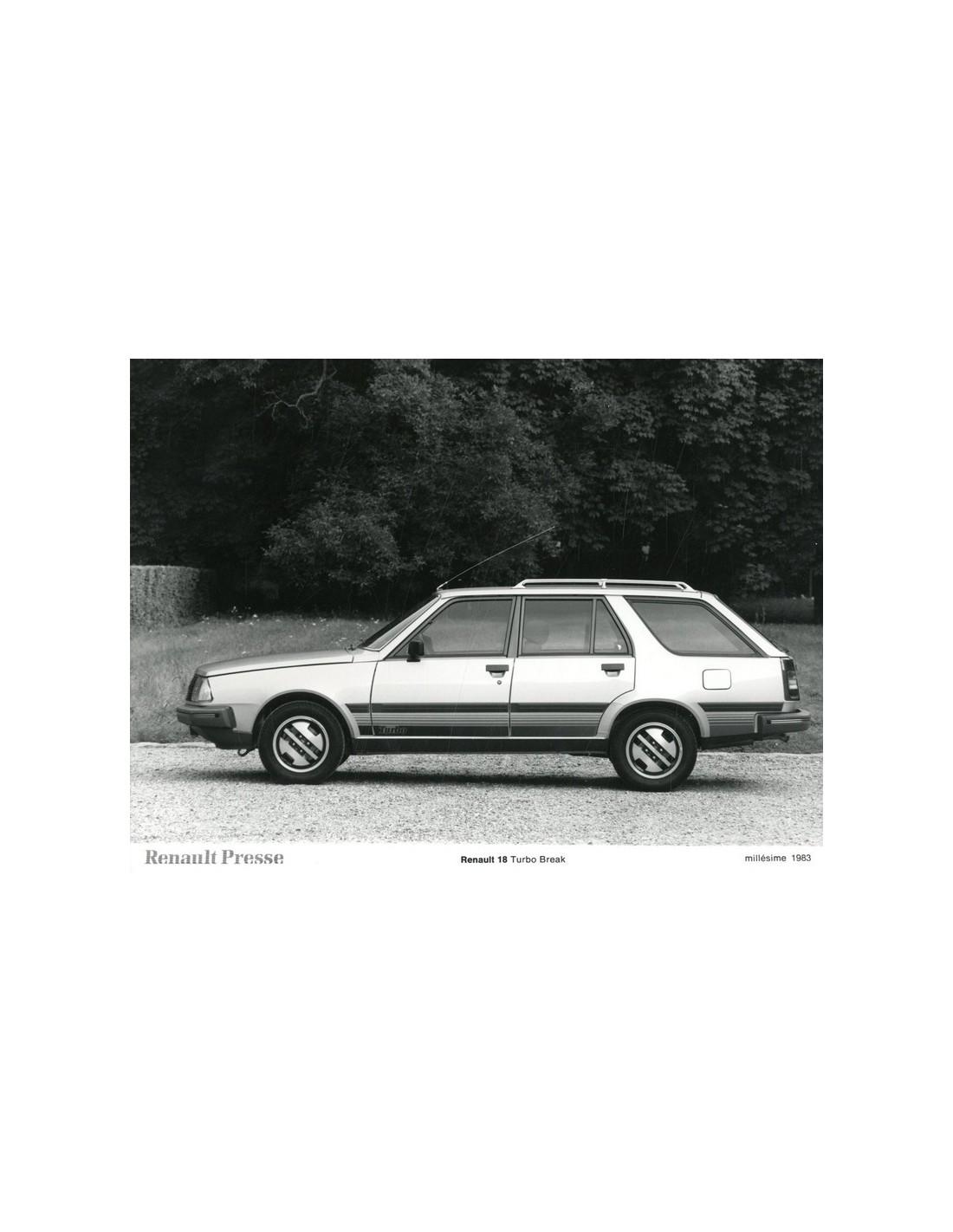 1983 Renault 18 Turbo Break Press Photo