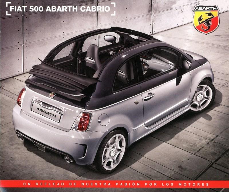 2013 Fiat 500 Abarth Cabrio Leaflet Spanish