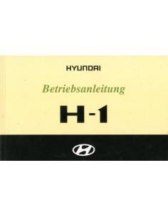 2002 HYUNDAI H-1 INSTRUCTIEBOEKJE DUITS
