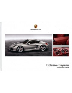 2013 PORSCHE EXCLUSIVE CAYMAN HARDCOVER BROCHURE DUITS