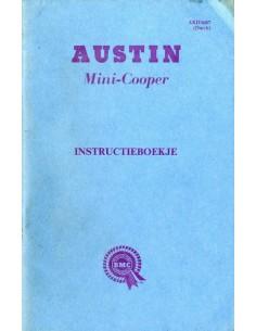 1963 AUSTIN MINI COOPER INSTRUCTIEBOEKJE NEDERLANDS