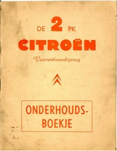 1959 CITROEN 2CV INSTRUCTIEBOEKJE NEDERLANDS