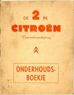 1959 CITROEN 2CV INSTRUCTIEBOEKJE NEDERLANDS