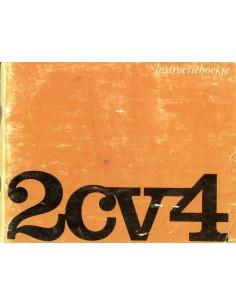 1971 CITROEN 2CV4 INSTRUCTIEBOEKJE NEDERLANDS