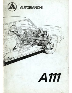 1970 AUTOBIANCHI A111 INSTRUCTIEBOEKJE NEDERLANDS