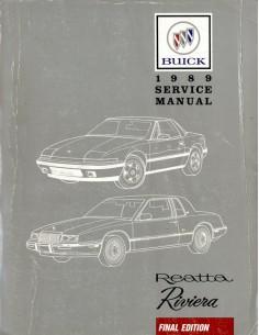 1989 BUICK REATTA RIVIERA FINAL EDITION WERKPLAATSHANDBOEK ENGELS