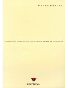 2011 MAYBACH PROGRAMMA PERSMAP FRANKFURT ENGELS