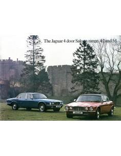 1978 JAGUAR XJ 4.2 & 5.3 BROCHURE FRANS