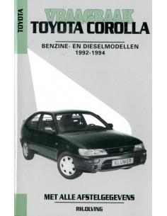1992 - 1994 TOYOTA COROLLA BENZINE & DIESEL VRAAGBAAK NEDERLANDS