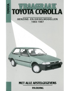 1983 - 1987 TOYOTA COROLLA BENZINE & DIESEL VRAAGBAAK NEDERLANDS