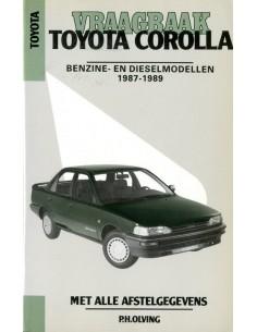 1987 - 1989 TOYOTA COROLLA BENZINE & DIESEL VRAAGBAAK NEDERLANDS
