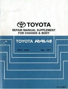 1997 TOYOTA RAV4 CHASSIS & CAROSSERIE WERKPLAATSHANDBOEK ENGELS