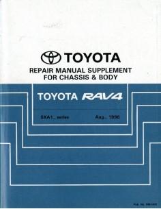 1996 TOYOTA RAV4 CHASSIS & CAROSSERIE WERKPLAATSHANDBOEK ENGELS