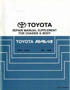 1995 TOYOTA RAV4 CHASSIS & CAROSSERIE WERKPLAATSHANDBOEK ENGELS