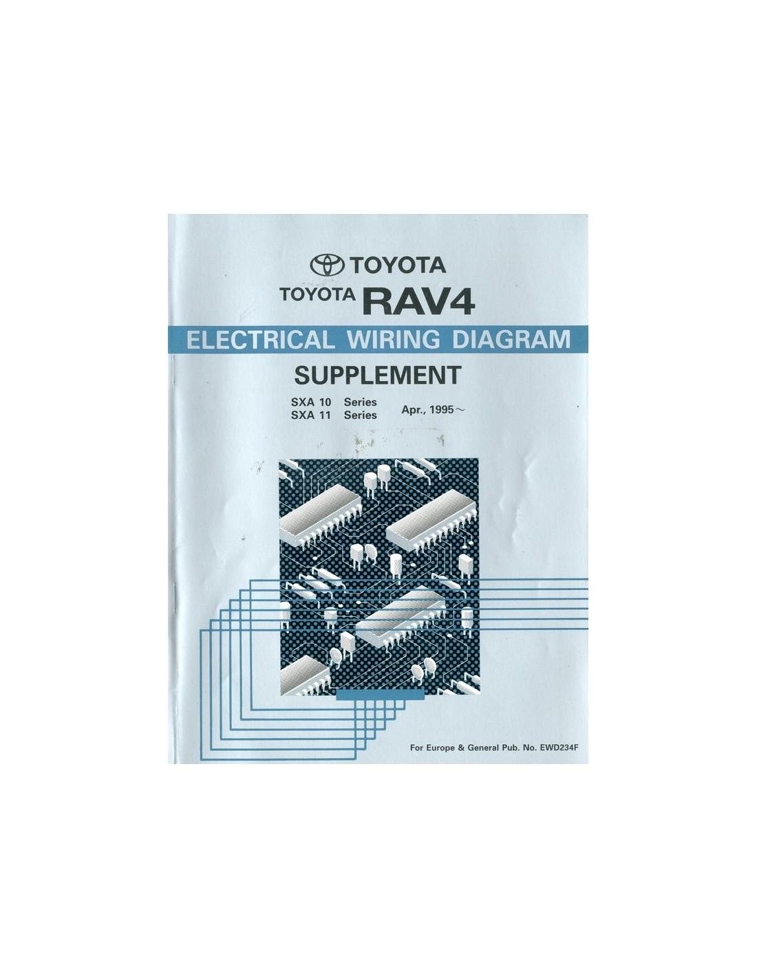 1995 TOYOTA RAV4 ELECTRICAL WIRING DIAGRAM WORKSHOP MANUAL ENGLISH