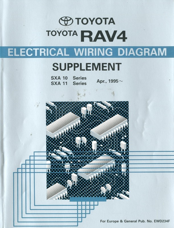 1995 Toyota Rav4 Electrical Wiring Diagram Workshop Manual