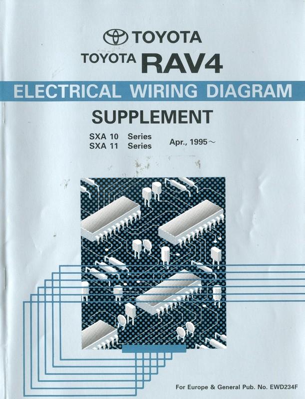 1995 toyota rav4 elektrikplan schaltplan werkstatthandbuch englisch