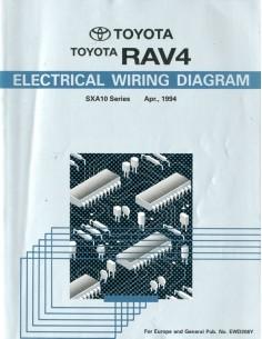 1994 TOYOTA RAV4 ELECTRISCHE SCHEMA'S WERKPLAATSHANDBOEK ENGELS