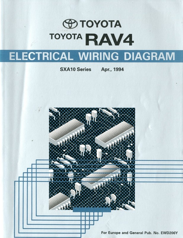 1994 Toyota Rav4 Electrical Wiring Diagram Workshop Manual