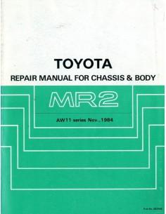 1984 TOYOTA MR2 CHASSIS & CAROSSERIE WERKPLAATSHANDBOEK ENGELS