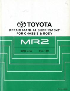 1991 TOYOTA MR2 CHASSIS & CAROSSERIE WERKPLAATSHANDBOEK ENGELS
