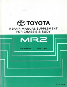 1993 TOYOTA MR2 CHASSIS & CAROSSERIE WERKPLAATSHANDBOEK ENGELS