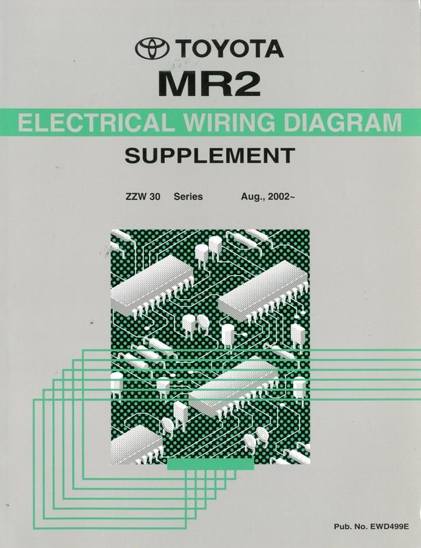 2002 toyota mr2 electrical wiring diagram workshop manual english rh autolit eu toyota mr2 spyder service manual download 2000 Toyota Spyder