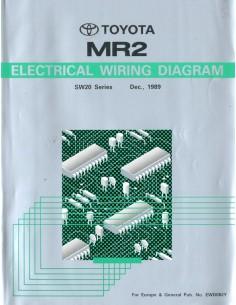1989 TOYOTA MR2 ELECTRISCHE SCHEMA'S WERKPLAATSHANDBOEK ENGELS