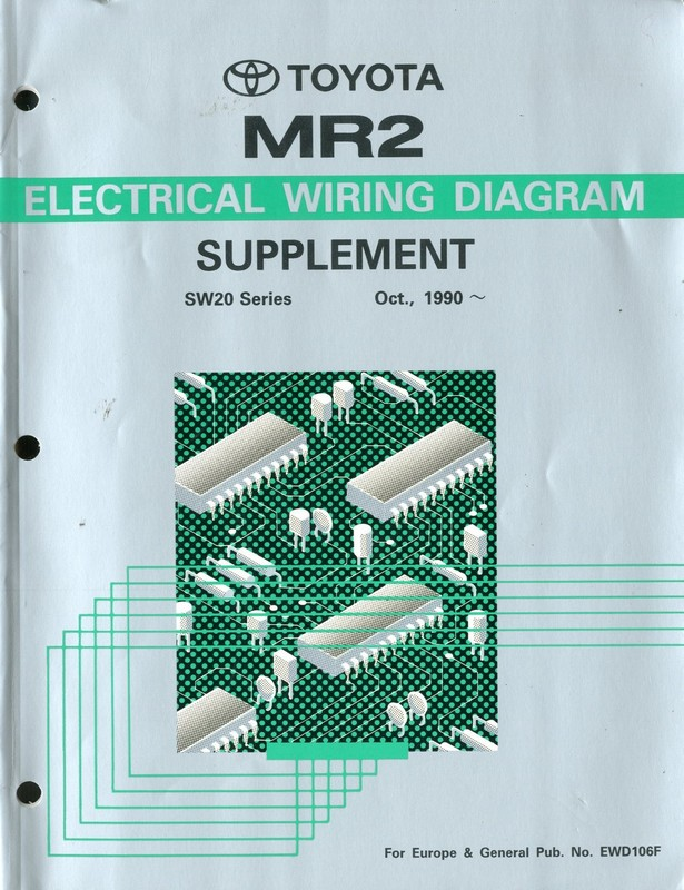 1990 Toyota Mr2 Electrical Wiring Diagram Workshop Manual
