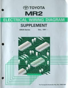 1991 TOYOTA MR2 ELECTRISCHE SCHEMA'S WERKPLAATSHANDBOEK ENGELS