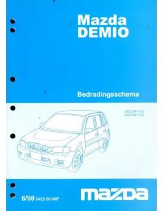 1998 MAZDA DEMIO ELECTRISCHE SCHEMA'S WERKPLAATSHANDBOEK NEDERLANDS